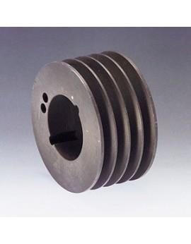 poulie fonte 4 spz Øp125 pour moyeu amovible 2012