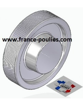 POULIE POLY-V ALU Øext 125 PJ 10 DENTS