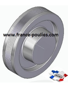 POULIE POLY-V ALU Øext 125 PJ 6 DENTS