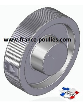 POULIE POLY-V ALU Øext 125 PJ 14 DENTS