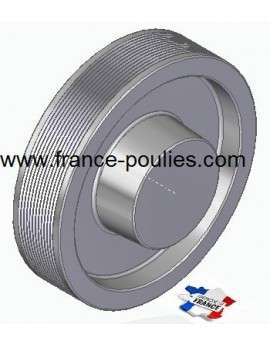 POULIE POLY-V ALU Øext 160 PJ 12 DENTS