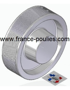 POULIE POLY-V ALU Øext 160 PJ 16 DENTS