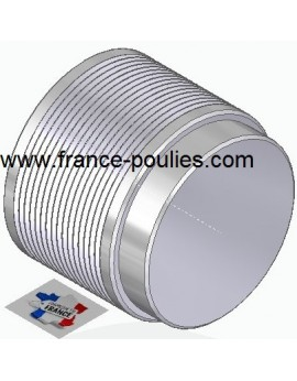 POULIE POLY-V ALU Øext 80 PJ 16 DENTS