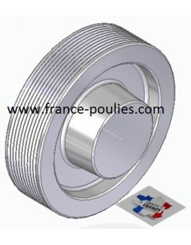 POULIE POLY-V ALU Øext 112 PJ 10 DENTS