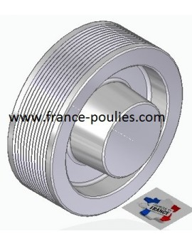 POULIE POLY-V ALU Øext 112 PJ 12 DENTS