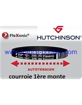 courroie poly v 206 ph 2 dents flexonic Hutchinson