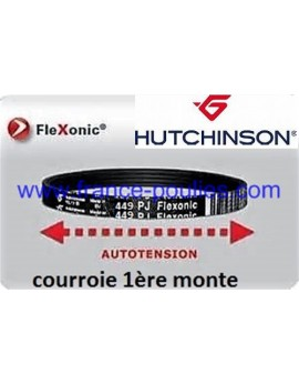 courroie poly-v 449 PJ 8 dents Flexonic Hutchinson